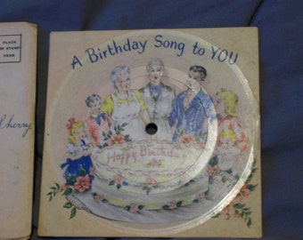 Vintage VOCO Record Greeting Birthday Card 1946