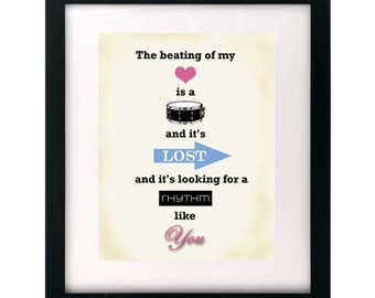 Making Love Out of Nothing At All - Air Supply.  Song Lyric Art Print Wall Hanging