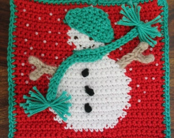 Frosty the Snowman potholder pattern - INSTANT DOWNLOAD