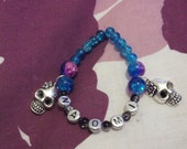 Kitsch skull bracelet personalised