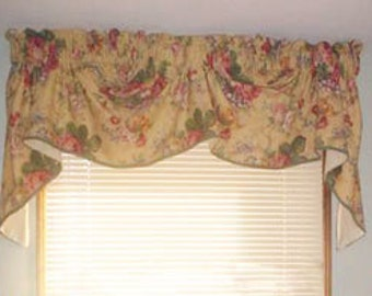 Custom Valance on Rod