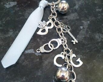 Handmade 50 Shades of Grey inspired Handbag Keyring Charm