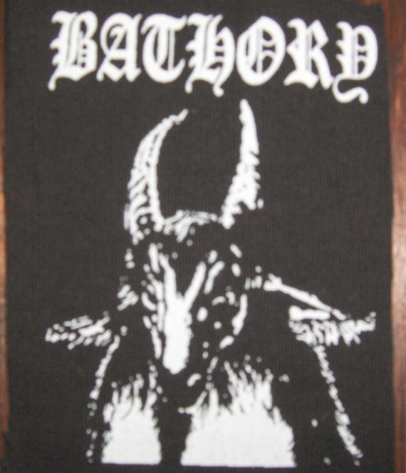 bathory goat patch black metal free shipping