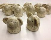 Custom order for Pbcb. 16 assorted figures, stoneware.