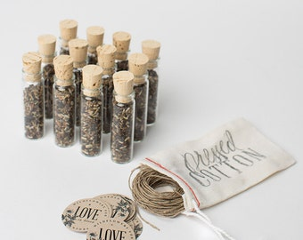 Wedding Favor (12), Wildflower Seed Favors, Garden Wedding, Botanical Wedding, Wedding Guest Gifts
