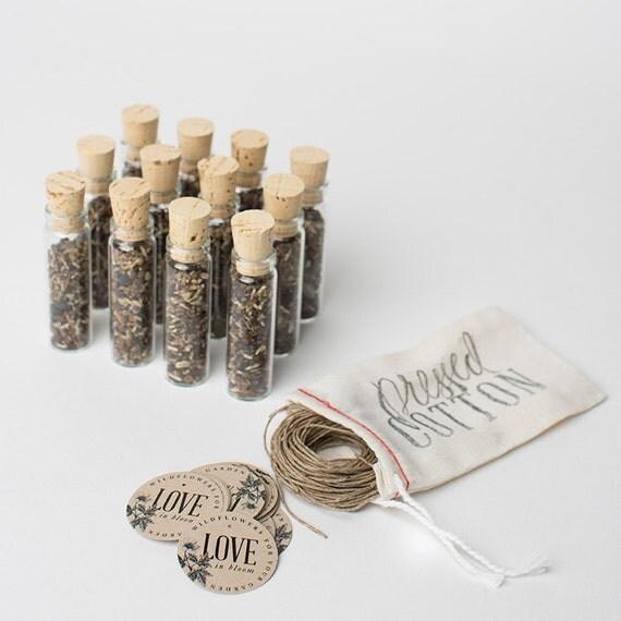 wedding favor 12 wildflower seed favors garden wedding. Black Bedroom Furniture Sets. Home Design Ideas