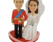 Personalized Wedding Cake Toppers Head to Toe Customized Figurine United Kingdom Royal