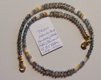 Labradorite  Necklace with Sapphire  (JK 601)