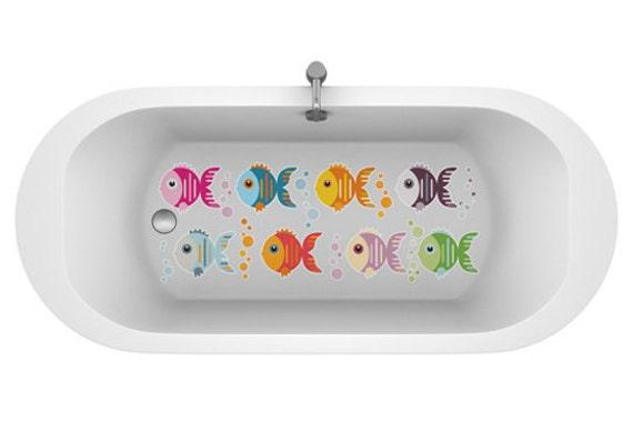 Art culos similares a vinilos antideslizantes de peces - Pegatinas para bano ...