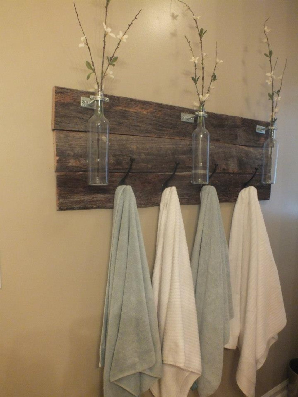 Diy Towel Rack Bathroom Pallet
