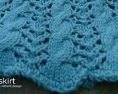 Skirt knitting pattern: skirt, by Vithard Villumsen