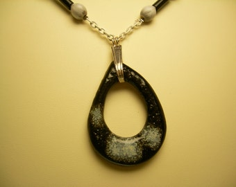 Black and White Cosmic Necklace