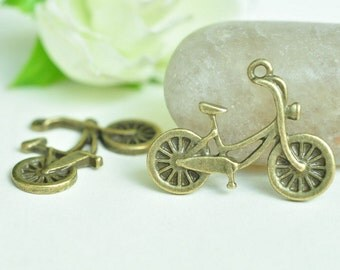 20pcs Antique Bronze  Bicycle Bike Cycle Charms 25x19mm MM636