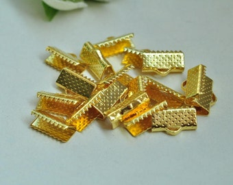 80pcs Gold Plated Fasteners Clasps 13mm XJ035
