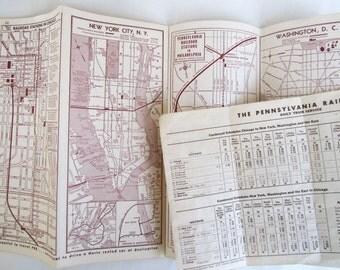 Vintage railroad timetables