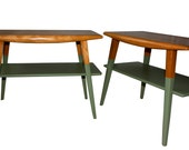 Mid-Century Modern Side Table - Dipped