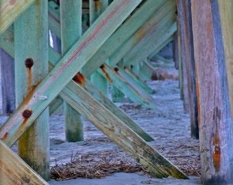 "8x10 Matte Finish Coastal Pier Structure ""Charleston"" Series Photo, ""Repetition"""