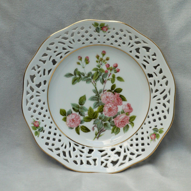 floral bavaria schumann arzberg porcelain plate rosa. Black Bedroom Furniture Sets. Home Design Ideas