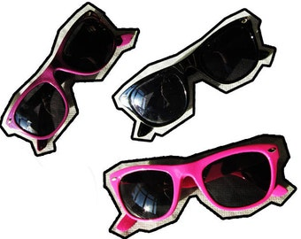 Vintage Deadstock Wayfarer sunglasses - Available in Black, Pink or Purple