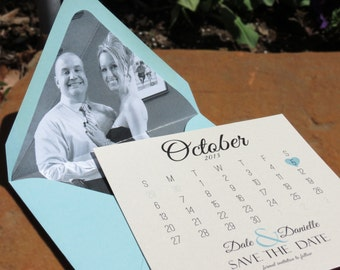 Save The Date - Calendar Style