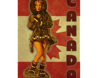 CANADA 1PS- Handmade Leather Photo Album - Travel Art