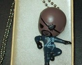 Nick Fury action figure necklace
