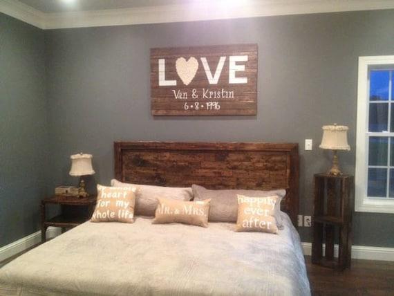 Furniture Rustic Wood Bed Headboards With Mantel Having: Rustic Platform Bed & Headboard