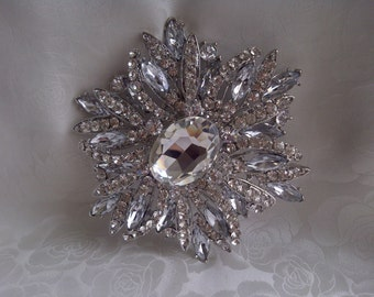 Bridal Jewelry, Wedding Hair Piece Comb, Crystal Rhinestone Wedding Comb, Wedding Hair Accessory, DIY Brooch Bouquet
