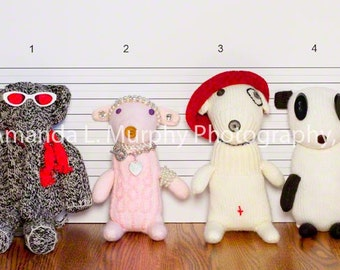 Nursery Art, Kids Wall Art, Sock Monkey Police Line Up, Childrens Decor, Children's Wall Art, Photography for Kids