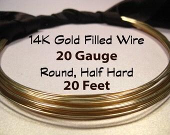 15% Off SALE!! 14K Gold Filled Wire, 20 Gauge, 20 Feet WHOLESALE