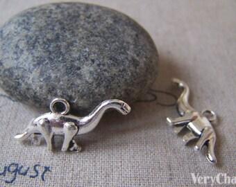 20 pcs of Tibetan Silver 3D Dinosaur Charms 12x27mm A4316