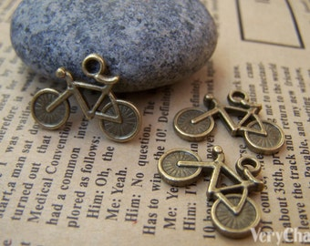 10 pcs of Antique Bronze Bike Bicycle Charms 15x20mm A951
