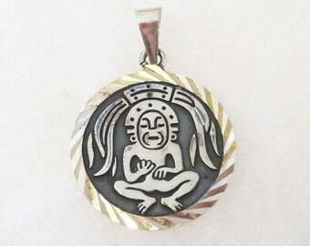 Vintage Mechoen Mexican 950 sterling silver pendant