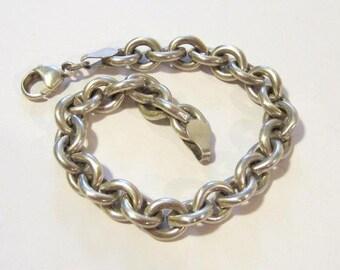 Vintage Sterling silver bracelet 7'' length
