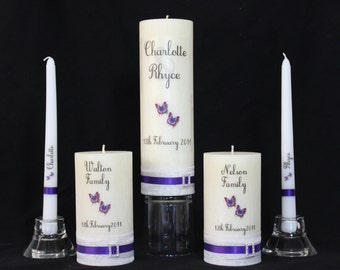 Wedding Unity Candles, 5 piece set
