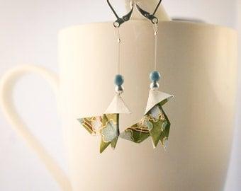 Casserole origami earrings