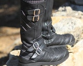 AAyyawear Moto Boots - Hand Crafted Leather by Ayya - Woman's - Steampunk SCA - Verillas