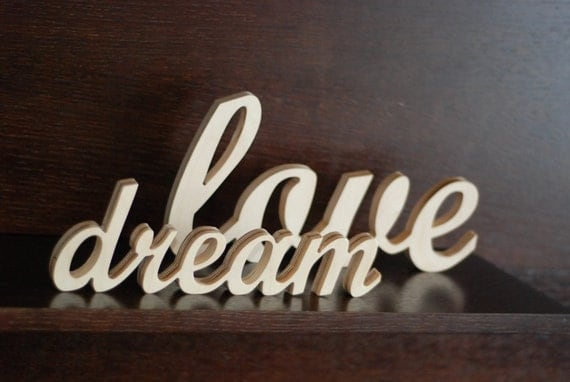Dream Wood Wall Decor : Items similar to custom made word sign wooden wall decor