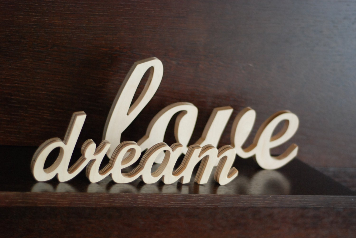 Wooden Words Wall Art : Wooden word decorations for walls interior design ideas