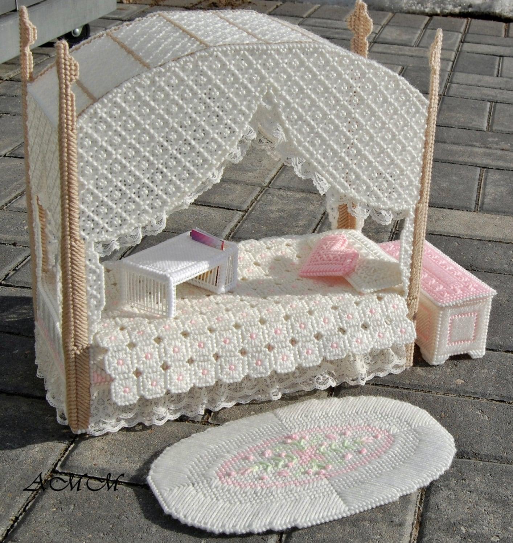 barbie doll bedroom furniture set pink lace