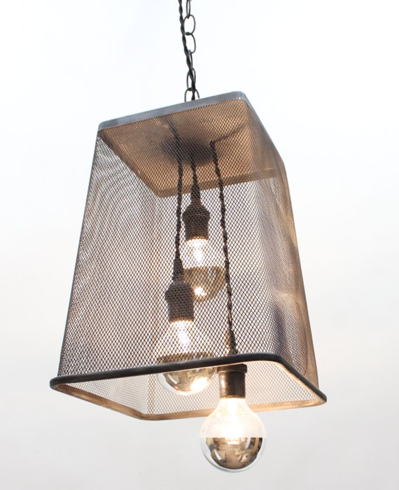 3 Light Up Cycled Pendant Light Chandelier