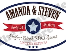 bbq sauce label template - popular items for rustic bbq party on etsy