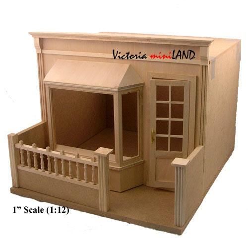 Dollhouse Miniatures Victoria Bc: The Barr Miniature Store Roombox Kit 1:12 Dollhouse 5min