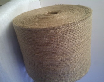 "100 Yards of 6"" Inch Wide, 10oz Burlap Roll"
