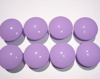 Set of 8 Hand Painted Lavender Dresser Drawer Knobs