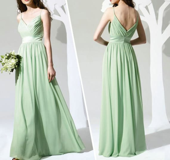 Unavailable listing on etsy for Mint green wedding dress