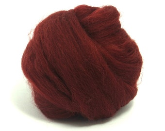 Loganberry (red) - Shetland Wool Top - Roving - Needle/Wet/Nuno Felting Wool - Spinning