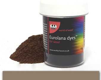 Grey - Eurolana Wool Dye - Hand Dye Your Own Wool - Roving/Top