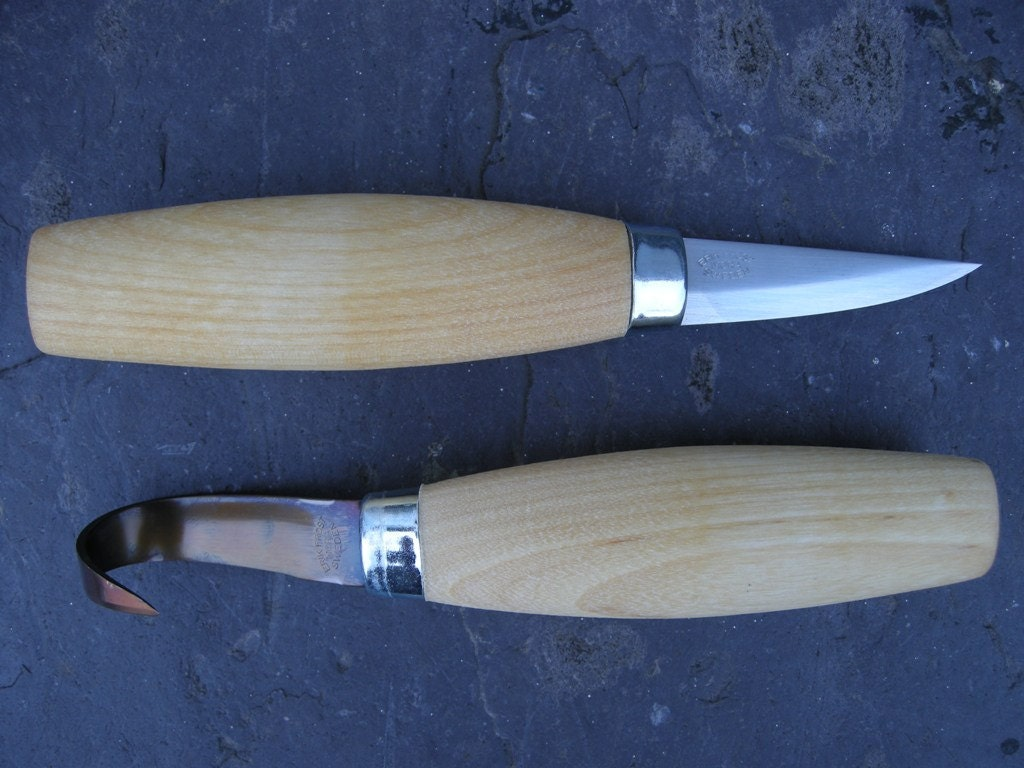 Complete spoon carving two knife set mora and knives