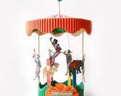 Circus Carousel Wedding Cake Topper, Birthday Party, Centerpiece, Table Decoration, Eclectic